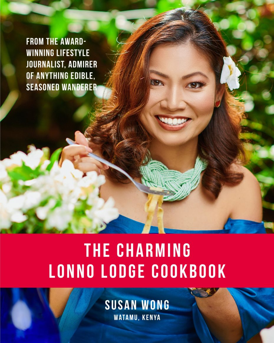 Cover of The Charming Lonno Lodge Cookbook with author Susan Wong