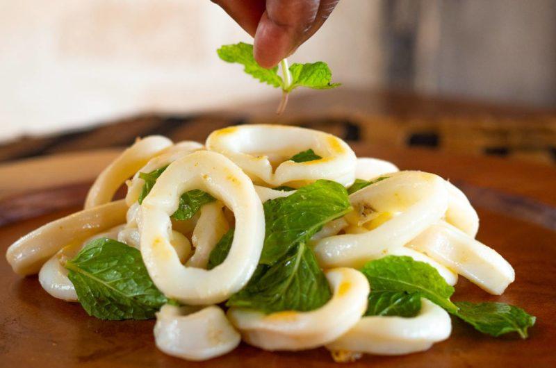 Sauteed Calamari with Mint and Lime