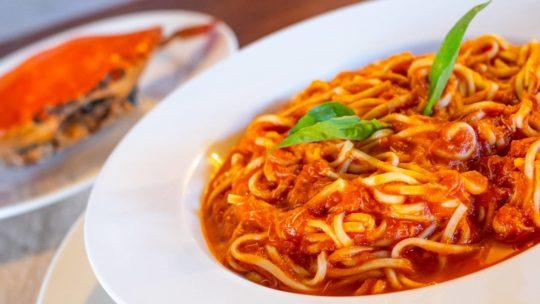 Tagliolini with Crab Sauce