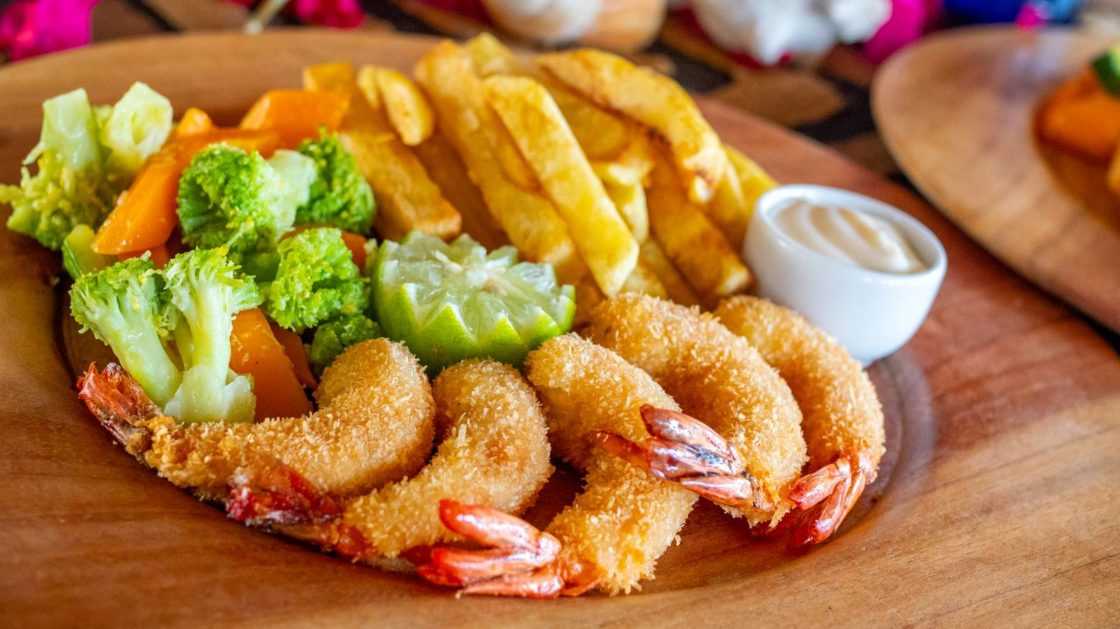 Coconut Prawns with Dill and Orange Mayonnaise