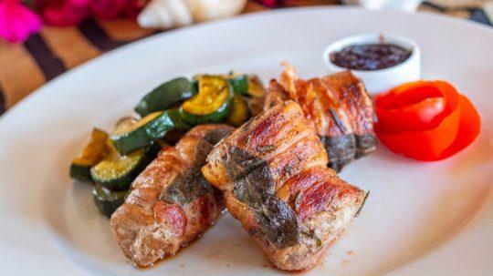 Roast Pork Tenderloin with Sage, Bacon and Onion Jam