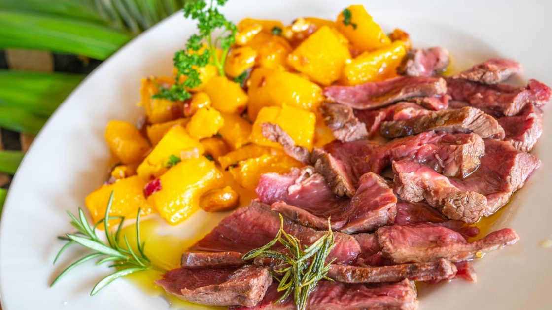 Rosemary Steak with Sauteed Butternut Squash