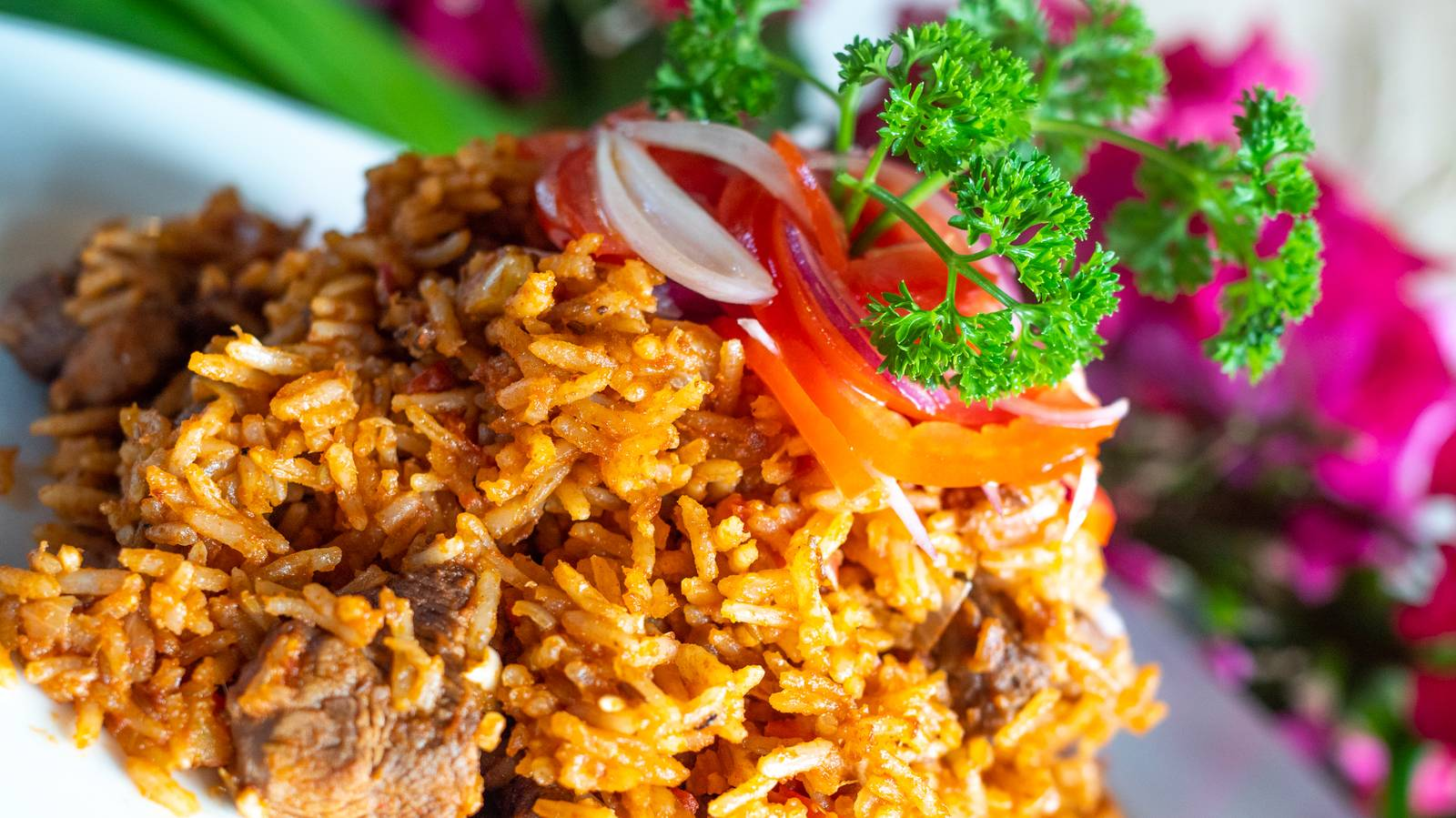 Swahili Pilau with Chapati